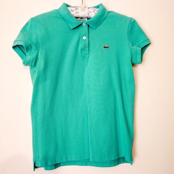 b498b1f9 Lacoste Tops | Womens Mint Green Short Sleeve Polo Shirt | Poshmark